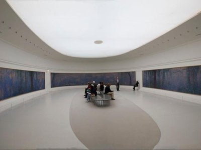 """Monet's """"Water Lilies"""" panels were installed at the Musee d'Orangerie in 1927, one year after the artist's death"""