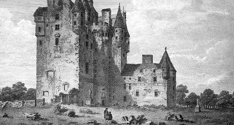 """Glamis Castle in the 18th century, shortly before its """"mystery"""" began."""