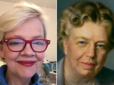 Google's latest app seems to think National Portrait Gallery director Kim Sajet has a lot in common with former First Lady Eleanor Roosevelt.