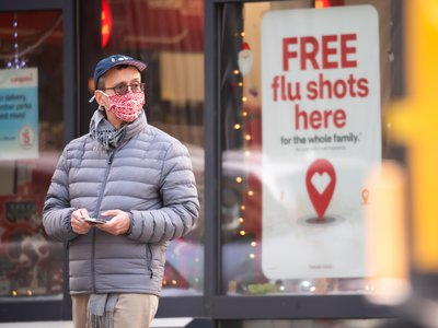 Mask wearing and other behaviors developed during the Covid-19 pandemic are largely keeping flu cases low this year.