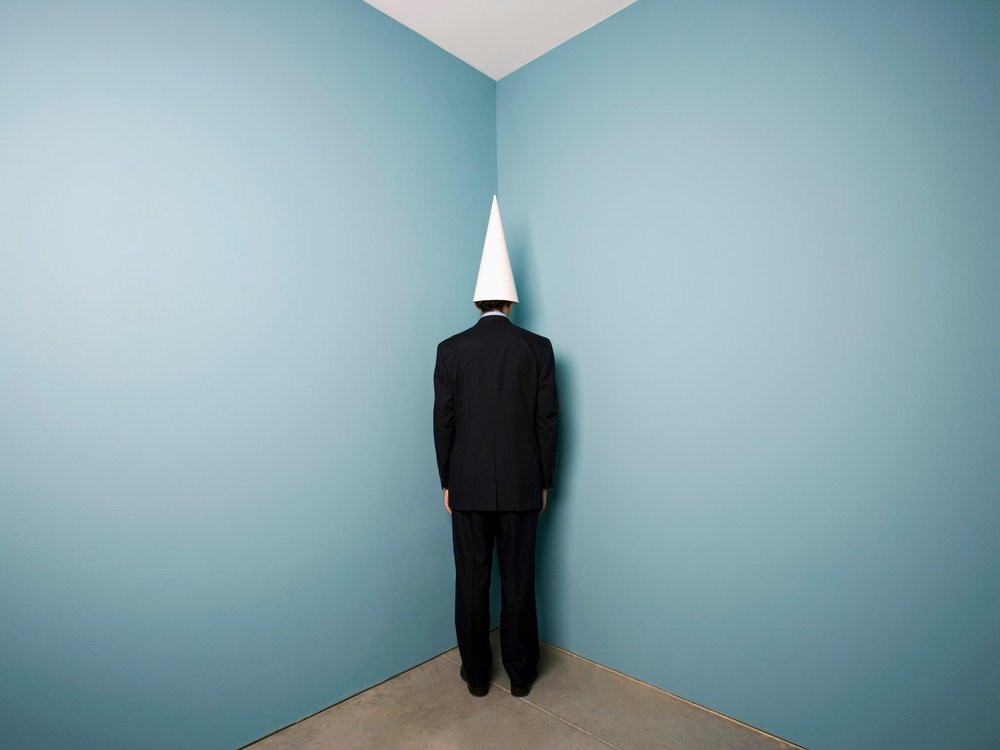 Man with Dunce Cap