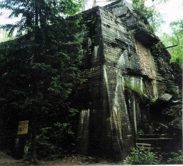 The Wolfsschanze, or Wolf's Lair, was Hitler's bunker outside of Rastenburg, Germany.