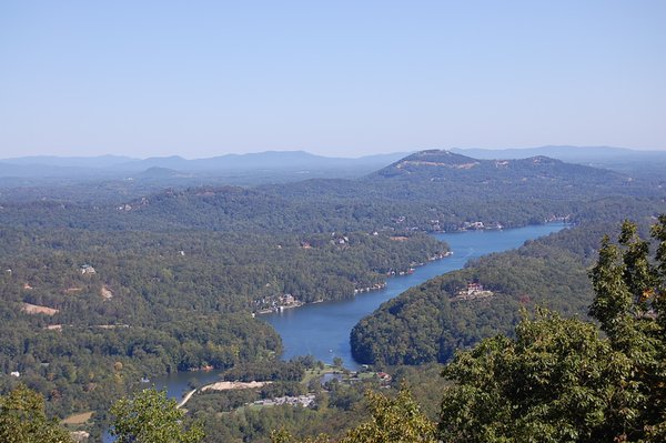 View from the top of Chimney Rock in North Carolina thumbnail
