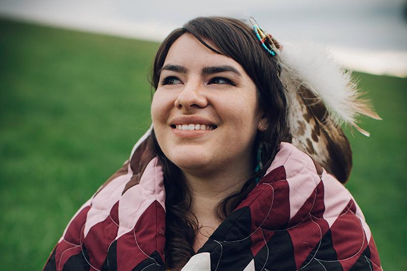 Poet and spoken word artist Autumn White Eyes. (Angel White Eyes for Red Cloud School)