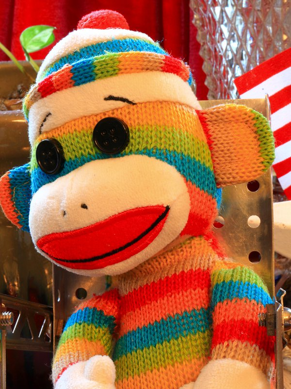 A portrait of a sock monkey thumbnail