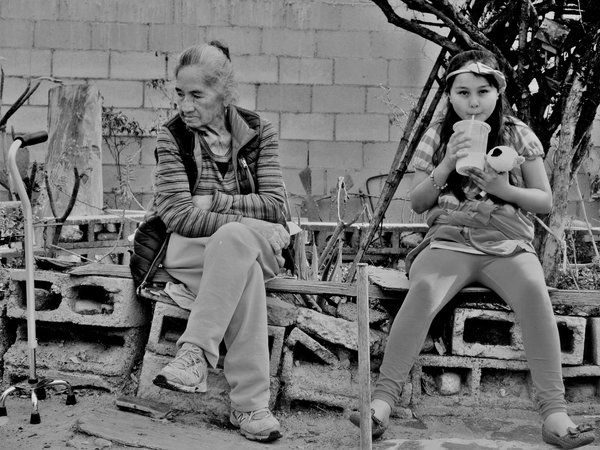 Little Girl with her Grandmother in Mexico  thumbnail