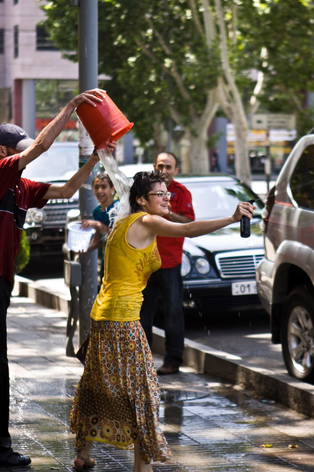 The Point of Armenia's Splashy Holiday Is Getting Wet