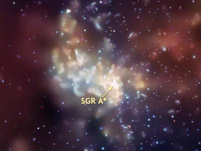 A combination of infrared and X-ray observations indicates that a surplus of massive stars has formed from a large disk of gas around Sagittarius A*.
