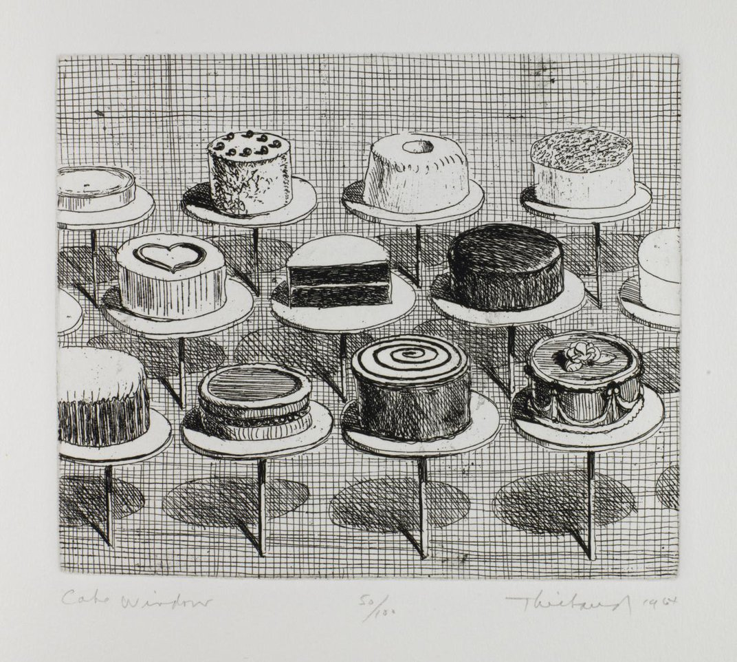 A drawing of cakes