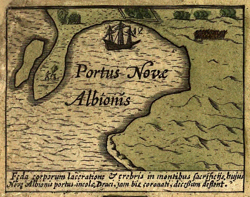 Map of Portus Nova Albionis
