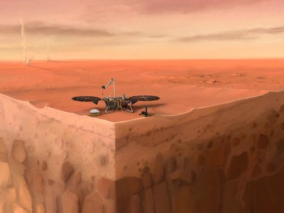 """InSight was sent on a mission to answer questions about the Red Planet's crust, mantle and core, known as the """"inner space."""""""