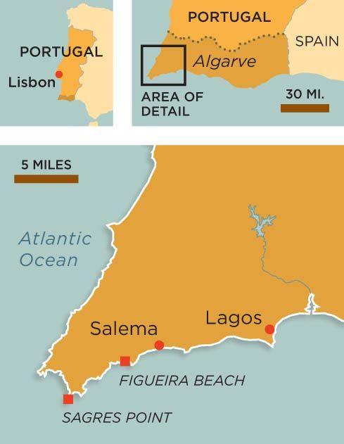 Algarve Portugal map
