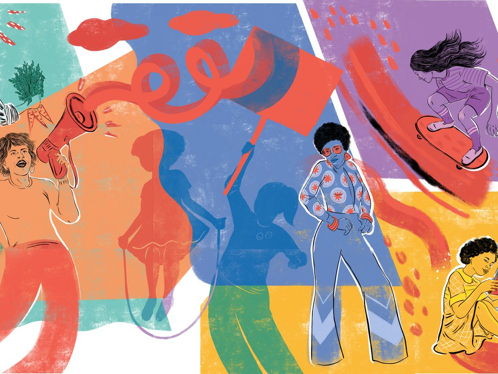 Girlhood (It's complicated) opened to the public on October 9, 2020. Artwork by Krystal Quiles for NMAH.