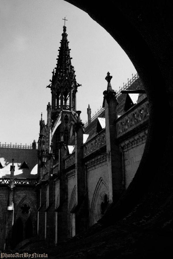 Looking out at the Basilica Del Voto Nacional  thumbnail