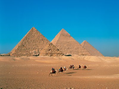 The pyramids of Giza were constructed between 2575 and 2465 BC. The monument in Israel dates to between 3050 and 2650 BC.
