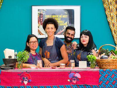 Sita Bhaumik, Saqib Keval, Jocelyn Jackson and Norma Listman (People's Kitchen Collective)