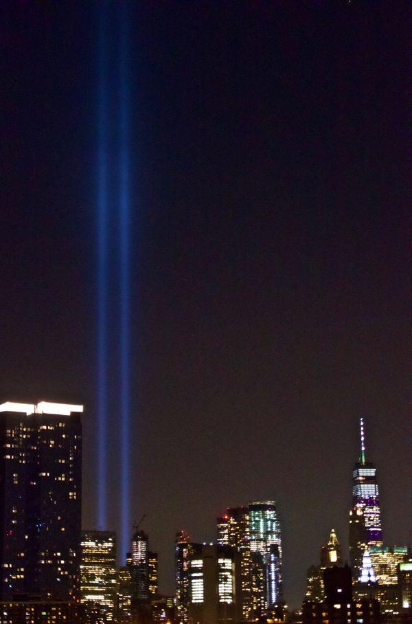Tribute lights on 9/11 thumbnail