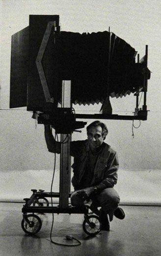 Neal Slavin with 20x24 inch Polaroid camera