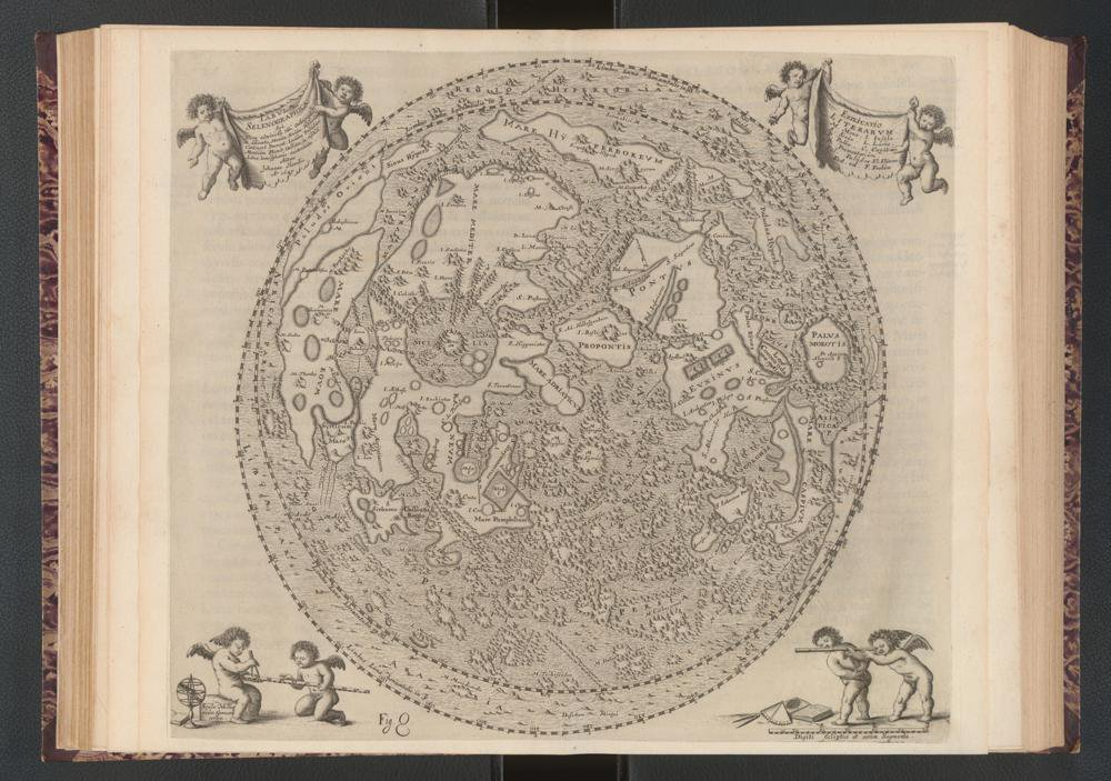 Moon Map with Features labeled