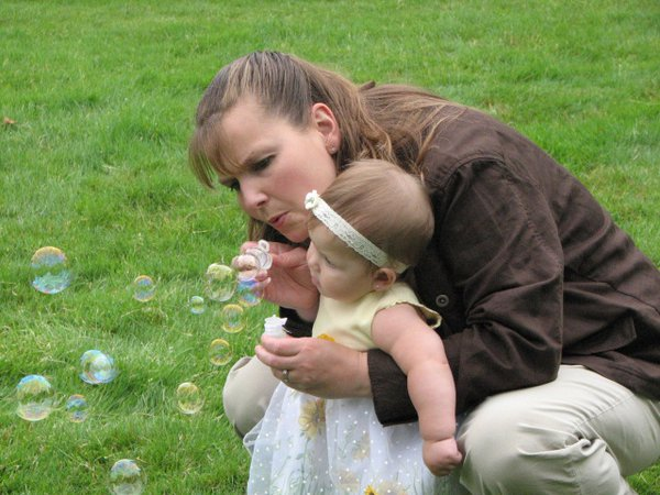 Blowing bubbles with Aunt Wendy thumbnail