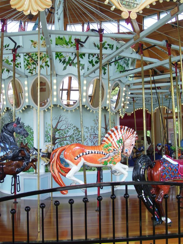 A restored carousel that has reached perfection in Albany, Oregon. thumbnail
