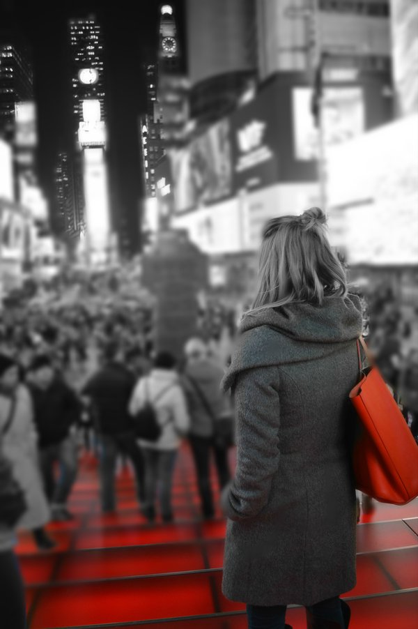 Red Stairs of Times Square thumbnail