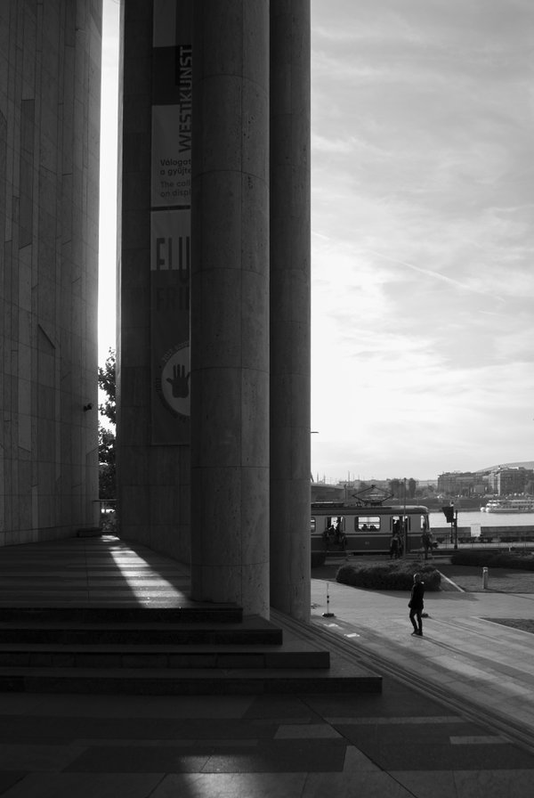 Pillars from the facade of MÜPA, Budapest. thumbnail