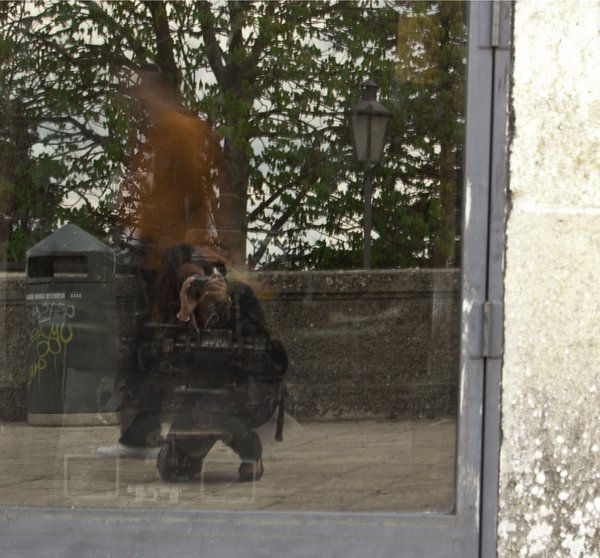 My reflection in a door in San Marino. thumbnail