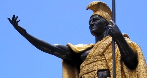 This statue of King Kamehameha