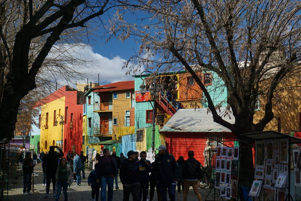 Colorful La Boca in Buenos Aires captures native cultural vibes. thumbnail
