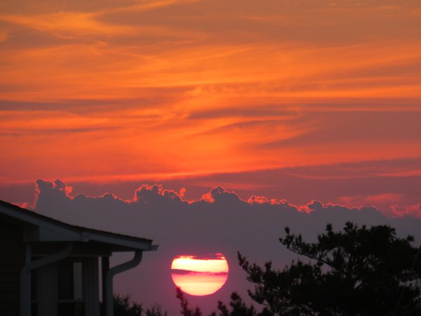 The last moments of sunset in Emerald Isle, NC. thumbnail