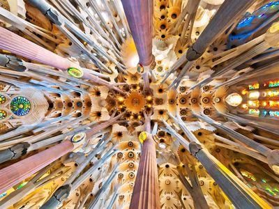 Ceiling of Antoni Gaudi's Sagrada Familia