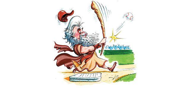 illustration of Moses at the bat