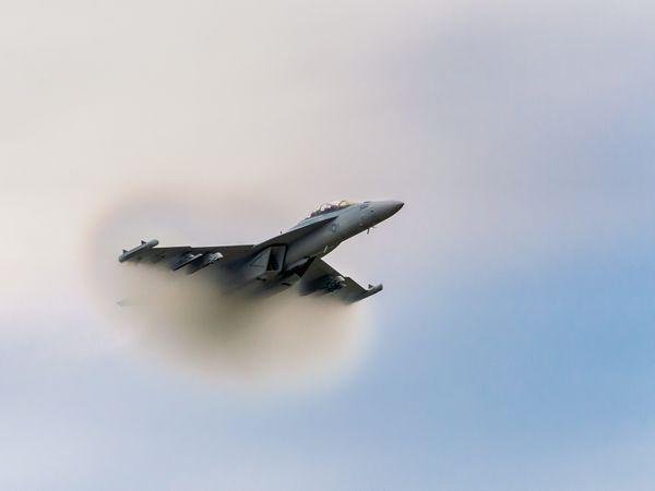 F18 Hornet Getting Ready to Break the Barrier thumbnail