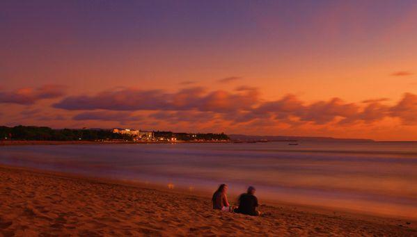 Lazy Afternoon, enjoying sunset at Kuta Beach, Bali thumbnail