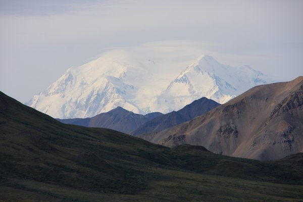 Mt. McKinley with clouds at the top thumbnail