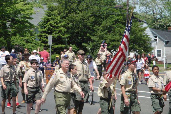 Boy Scouts on Parade, E. Setauket, NY thumbnail