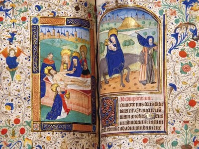 Kate McCaffrey, a former steward at Anne's childhood home, used ultraviolet light and photo editing software to reveal hidden writing in the Tudor queen's Book of Hours.