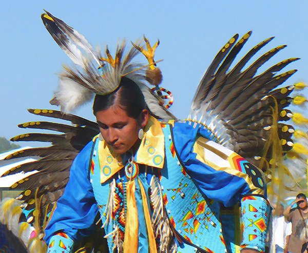 Young Traditional Dancer At A Pow Wow. thumbnail