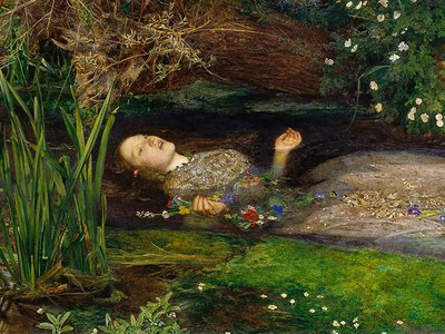 John Everett Millais, Ophelia, 1865-66