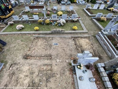 Researchers unearthed three Polish nuns' remains at a municipal cemetery in Orneta.