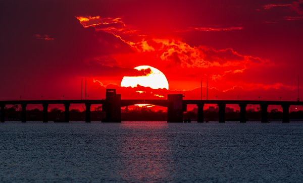 Sunset Over the Meadowbrook Drawbridge thumbnail