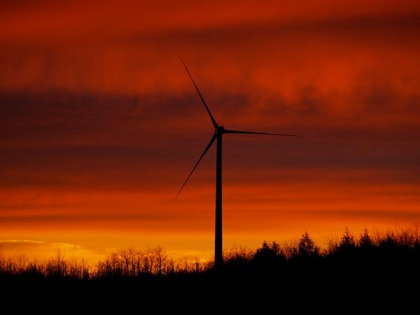 Wind turbine sunrise thumbnail