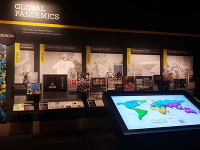 """The Smithsonian's """"Outbreak: Epidemics in a Connected World"""" exhibition is joining other efforts to combat misinformation about COVID-19 on multiple fronts. Volunteers, public programs and forthcoming content updates are providing visitors with access to credible and relevant information."""