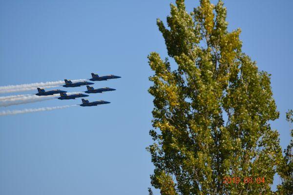 Blue Angels over Lake Washington WA thumbnail