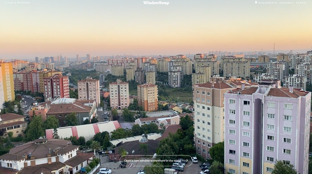 View from a high rise in Istanbul, Turkey