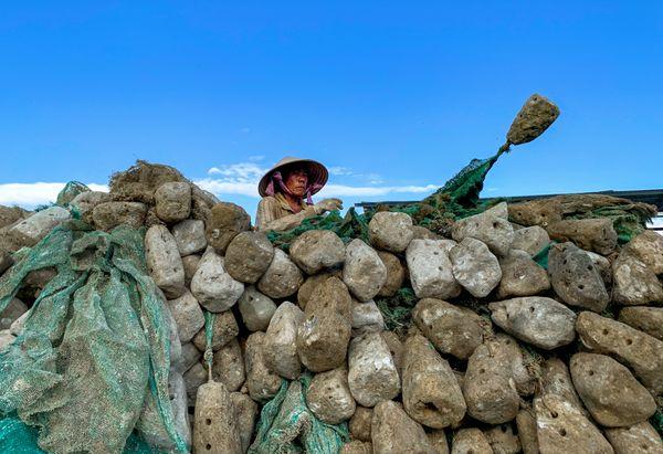 making rocks for shrimp farming thumbnail