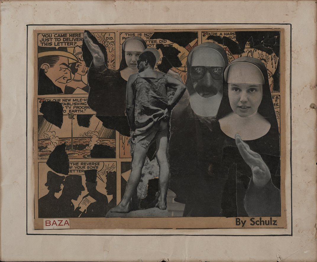 Collage from the Robert Alexander Papers and Temple of Man Records