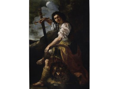 Artemisia Gentileschi's newly attributed David and Goliath painting