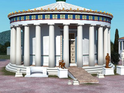 Reconstruction of the Sanctuary of Asclepius in Epidauros